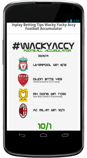 Inplay Betting Tips Android App - Download Inplay Betting Tips
