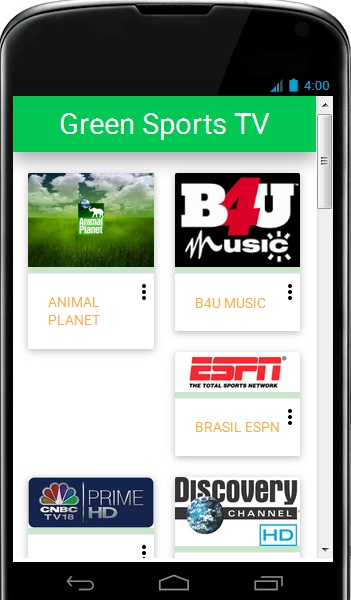 Green Sports TV Android App - Download Green Sports TV