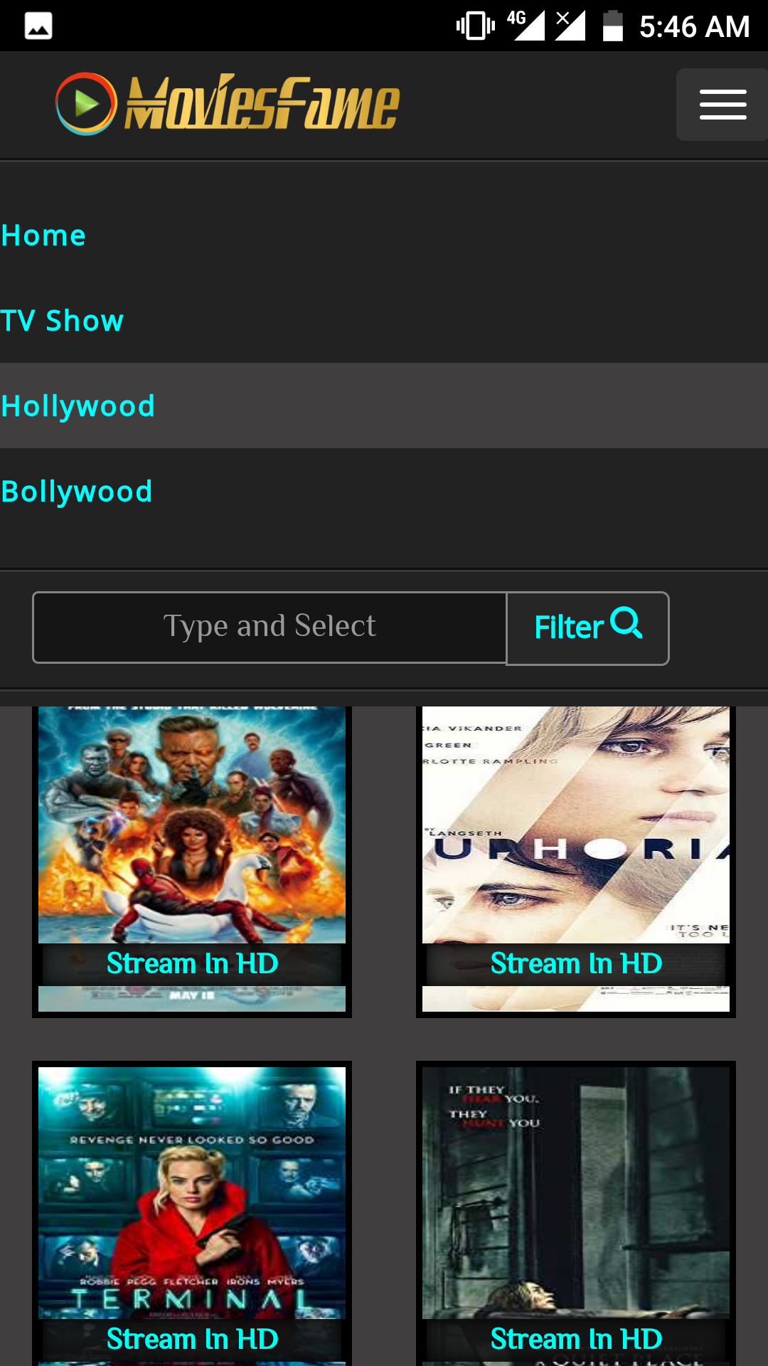 Moviesfame Android App - Download Moviesfame