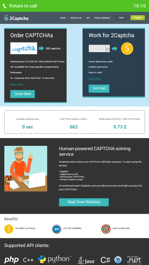 2captcha Android App - Download 2captcha