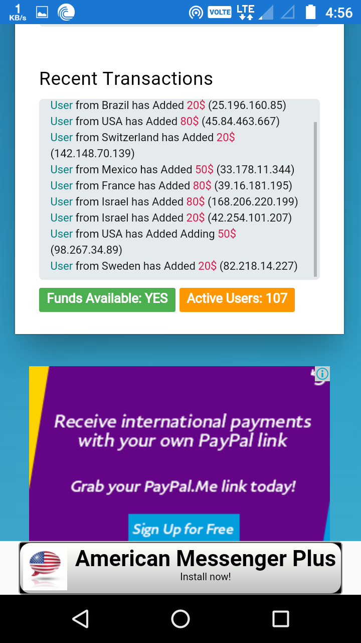 paypal money adder download for android