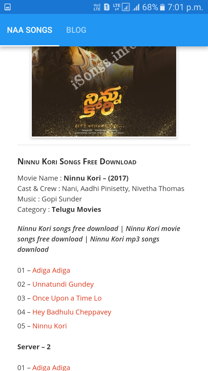Naa Songs Android App Download Naa Songs