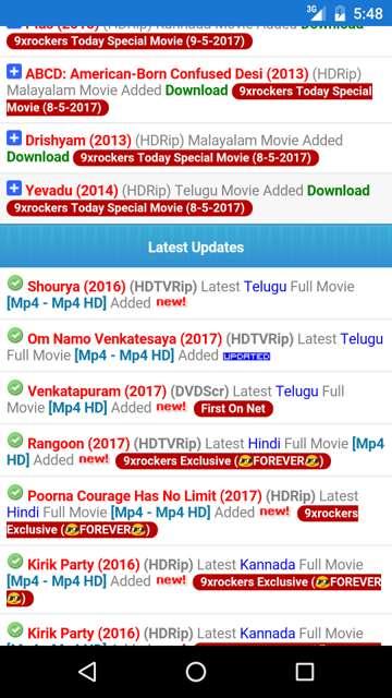 9xrockers 2019 telugu movies free download