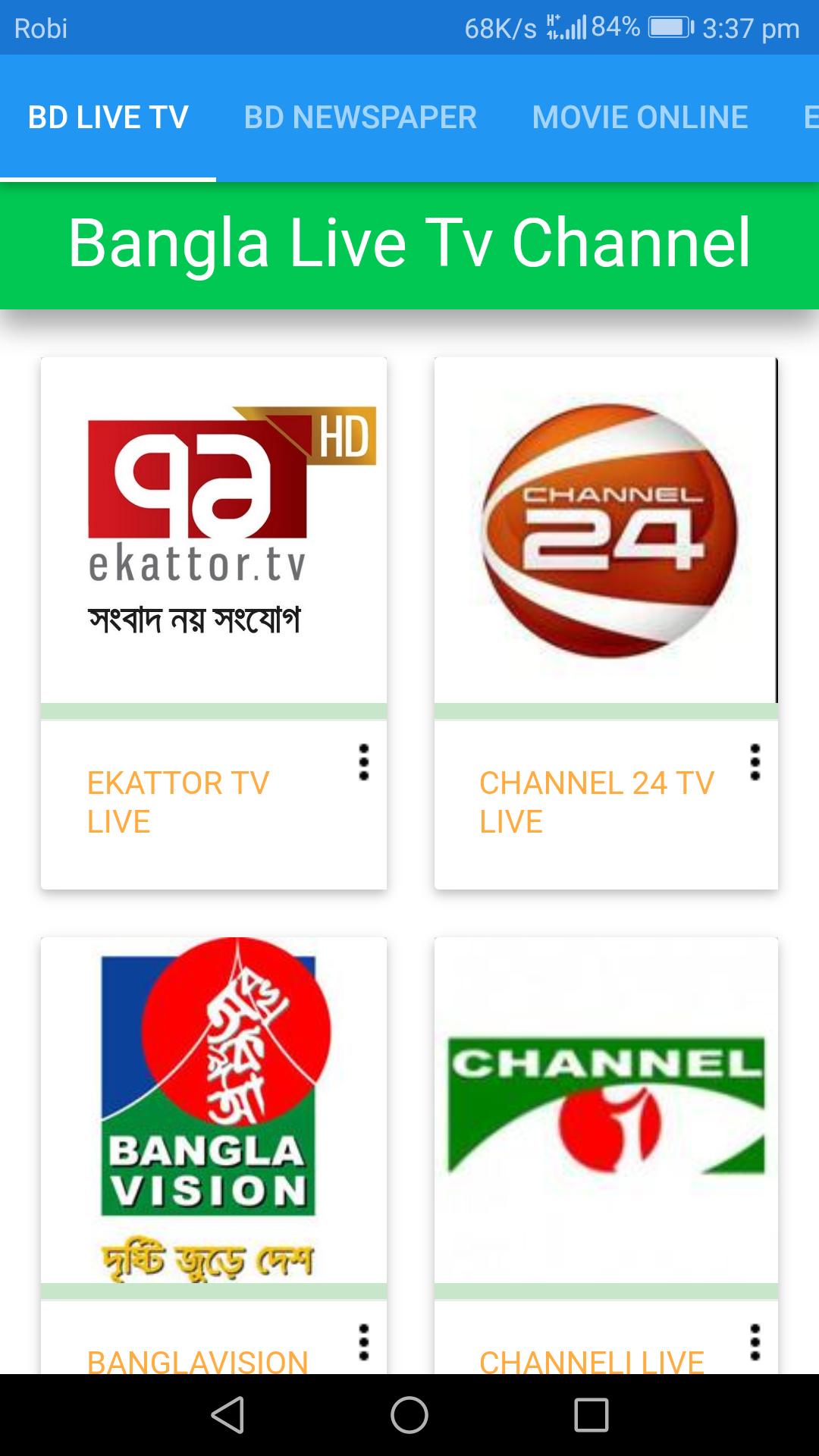 Bangla Live Tv Channel Android App - Download Bangla Live Tv