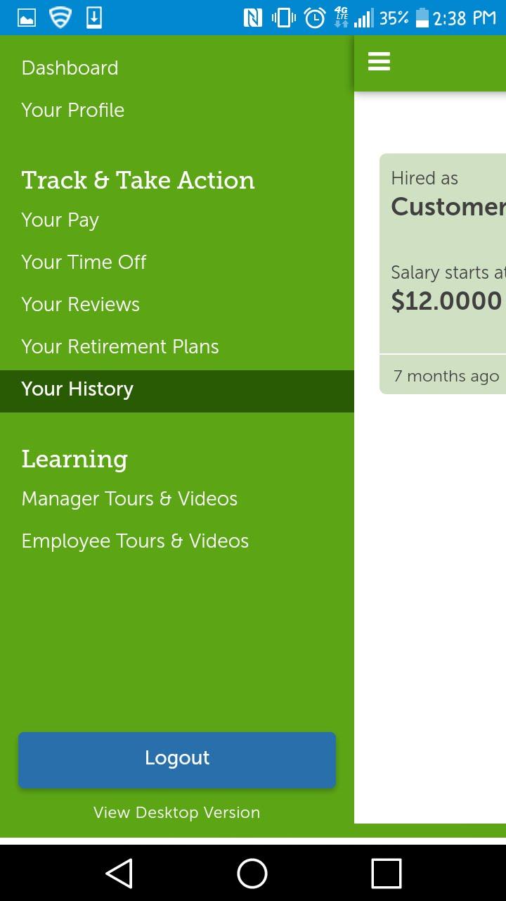 UltiPro Genesco Employee Portal Android App - Download