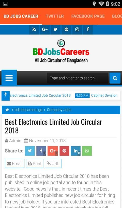 BD Jobs Career Android App - Download BD Jobs Career
