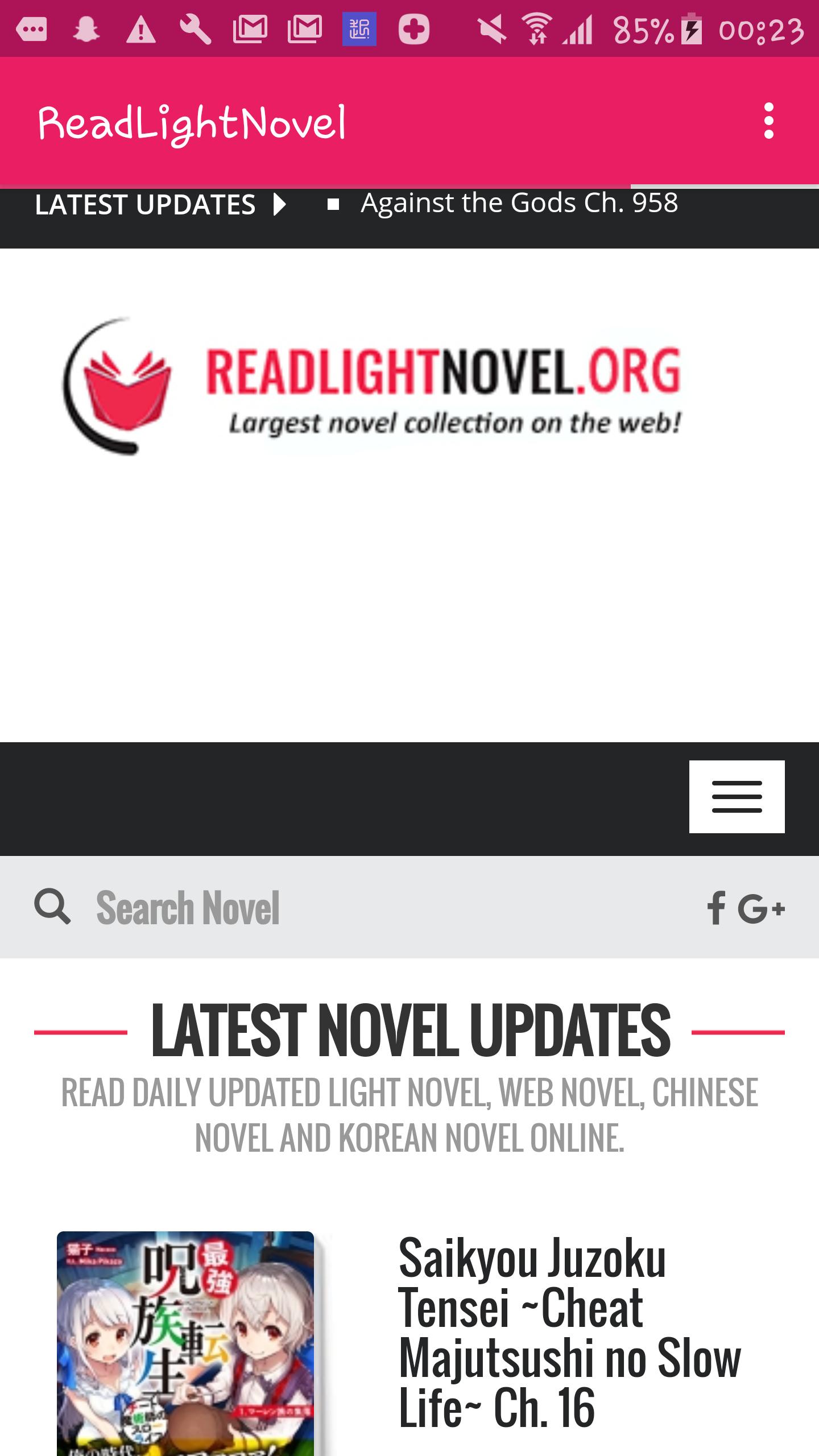 ReadLightNovel Android App - Download ReadLightNovel