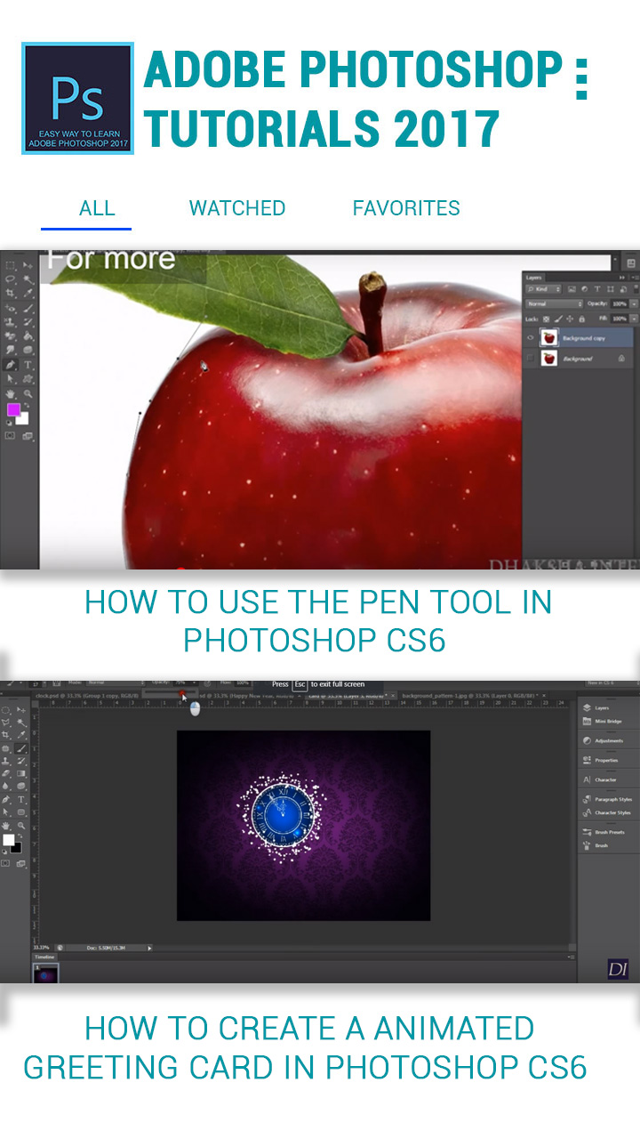 2018 Latest Photoshop Tutorials For Free Android App