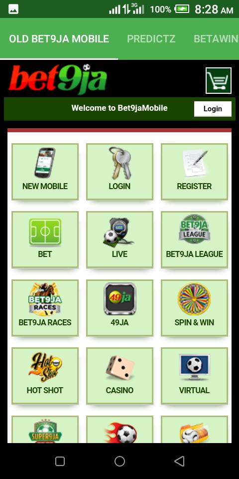 Old Bet9ja Mobile Android App - Download Old Bet9ja Mobile