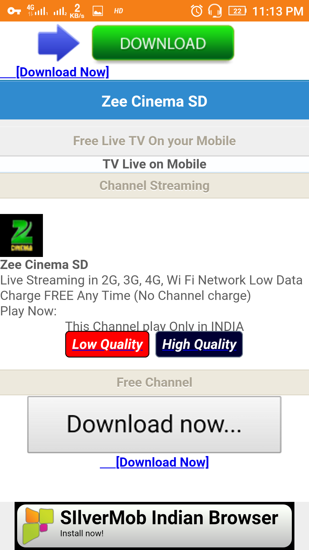 Live TV 2G 3G 4G Free Android App - Download Live TV 2G 3G