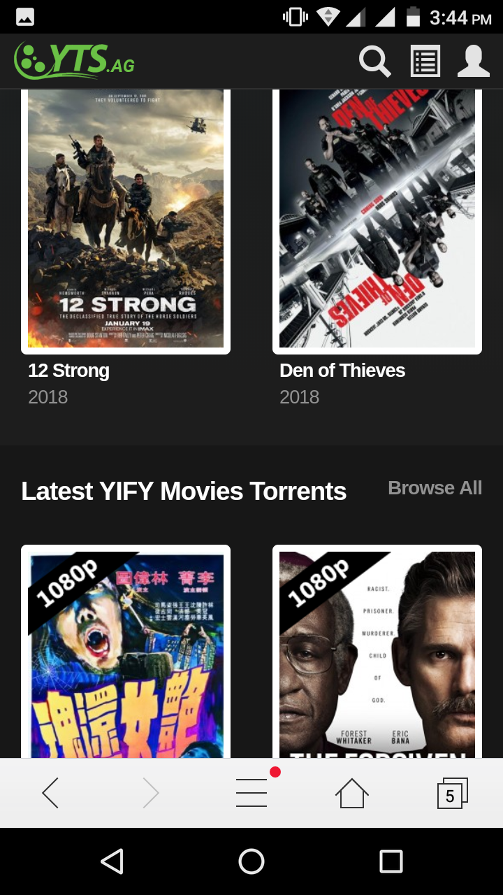 new yify movies site