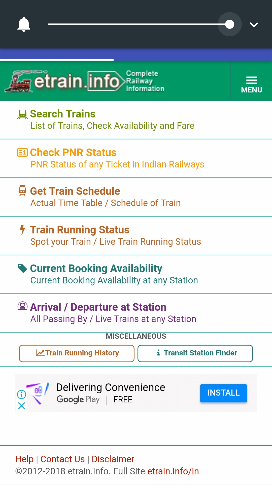 Indian Railway Time Table App 2018 | Wallseat co