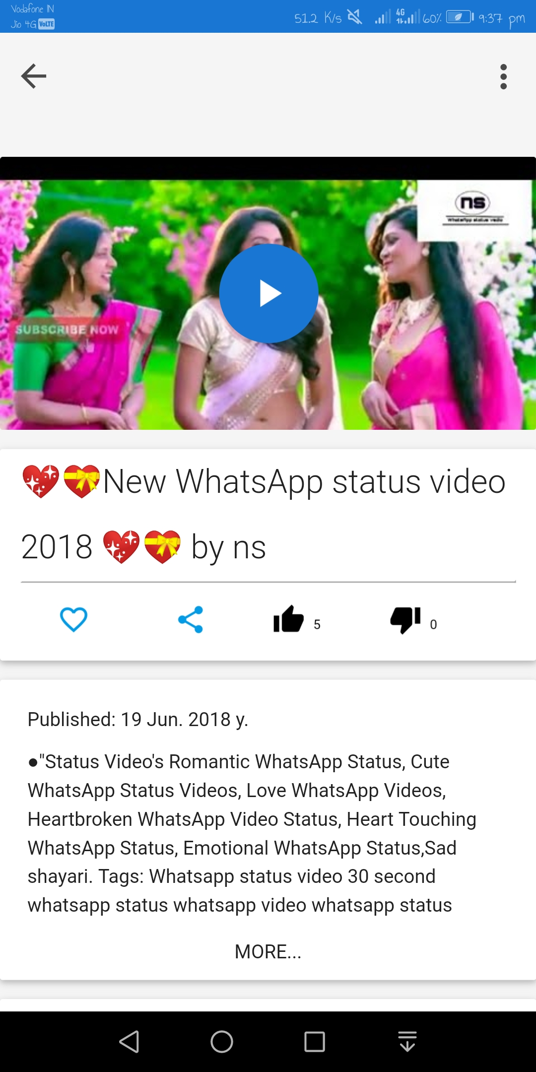 Ns whatsapp status videos 2018 Android App - Download Ns