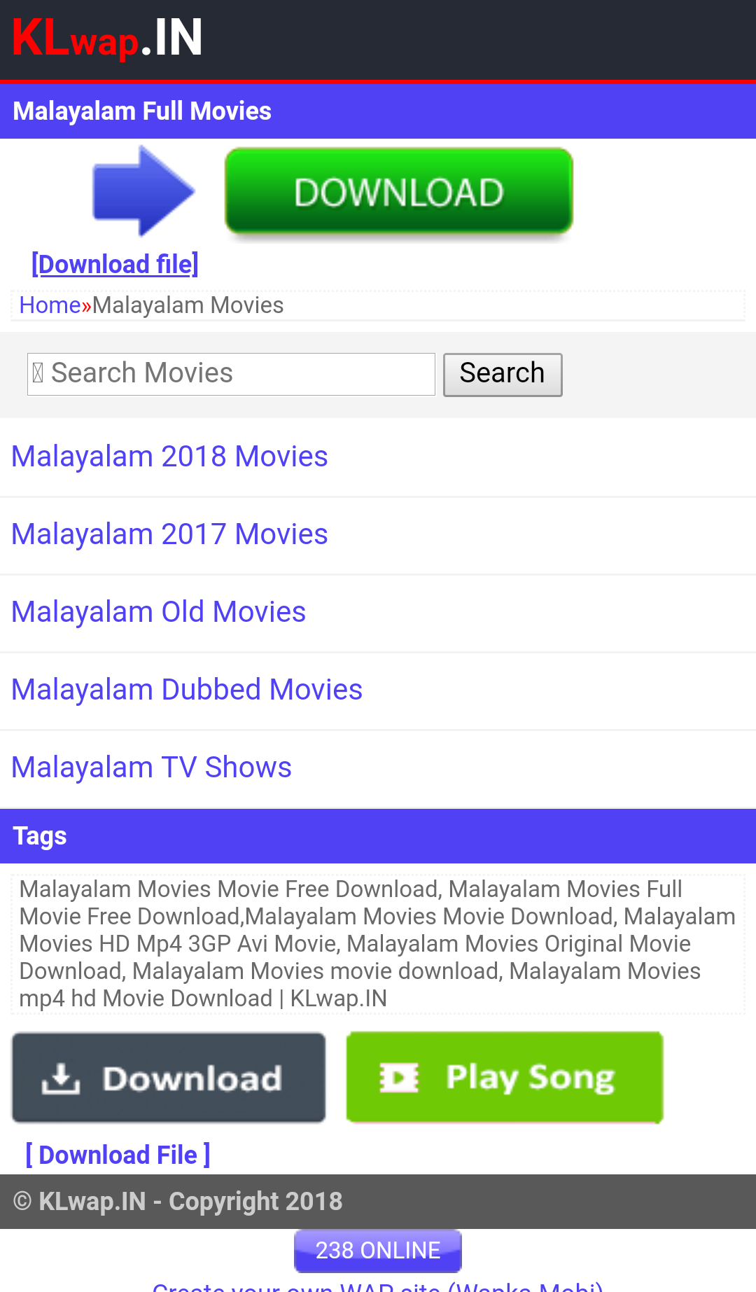klwap in malayalam movie download site