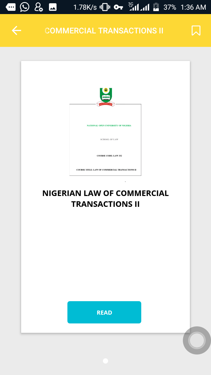 NIGERIAN COMMERCIAL LAW LECTURE NOTES I and II Android App