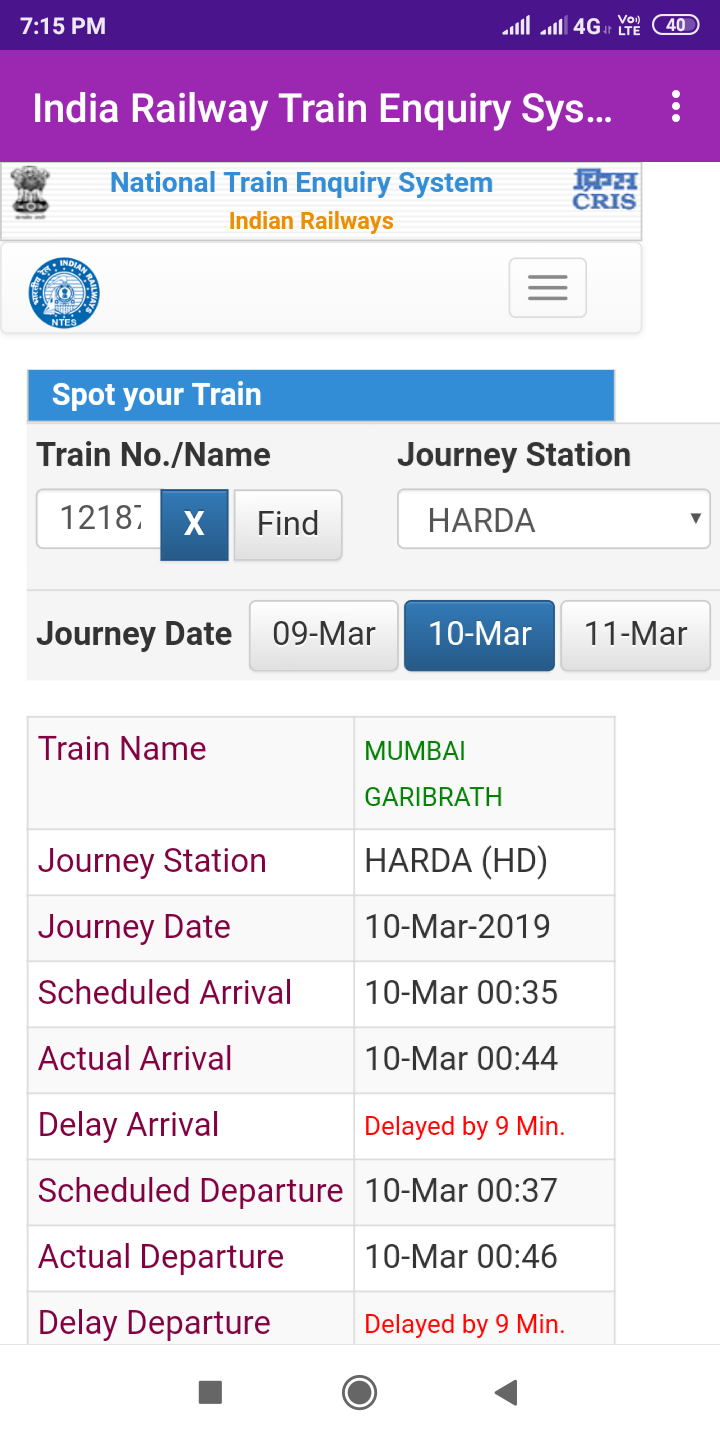 India Railway Train Enquiry System Live Train Status Android