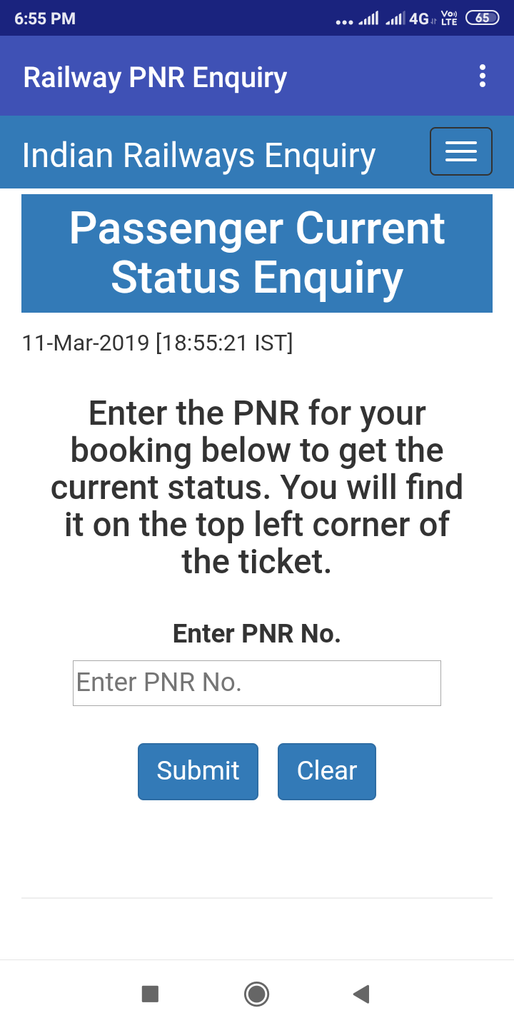 Railway PNR Enquiry Android App - Download Railway PNR Enquiry